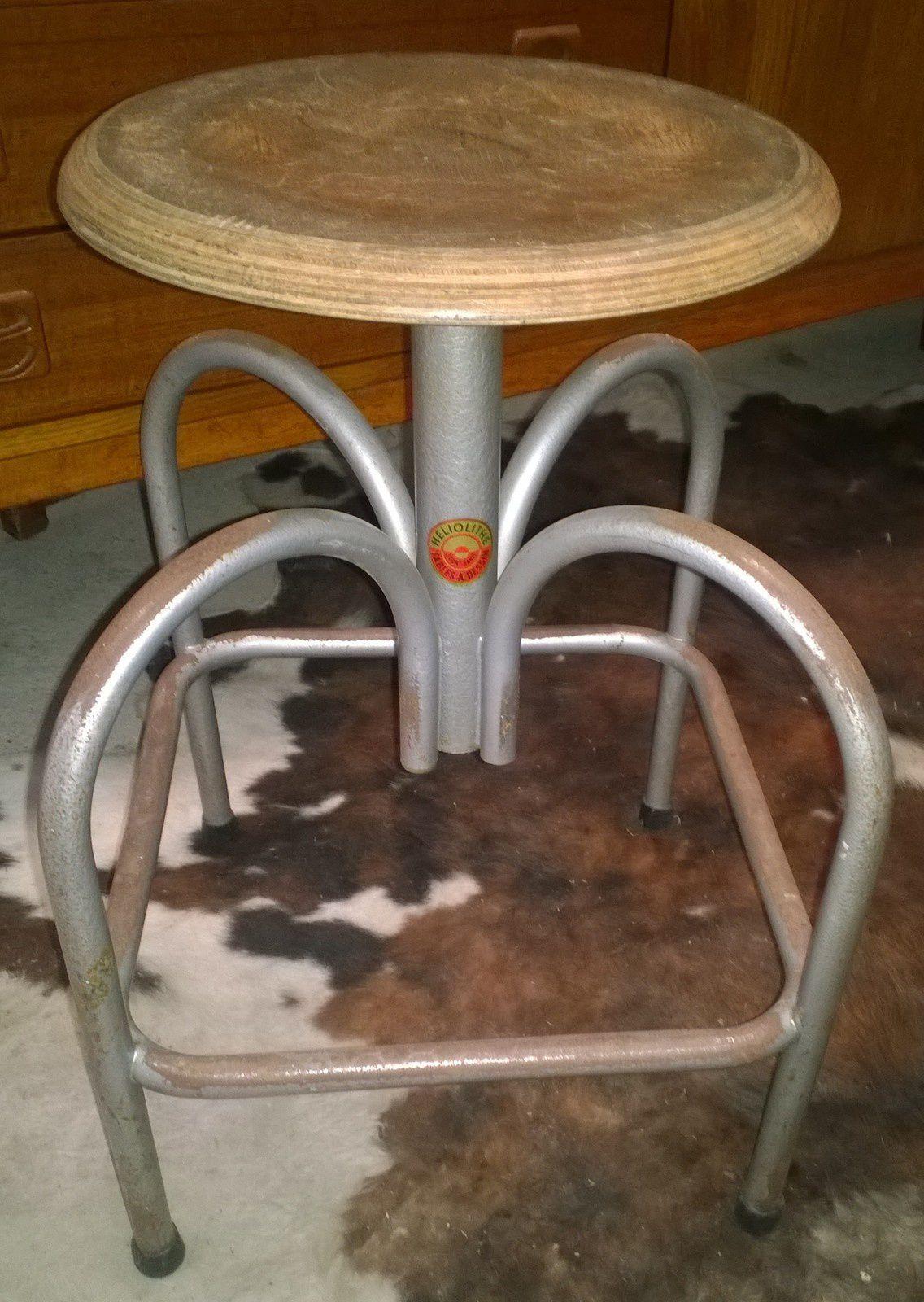 Tabouret industriel atelier heliolithe 1950 vente de mobilier vintage design scandinave ann es - Loft industriel playing circle ...