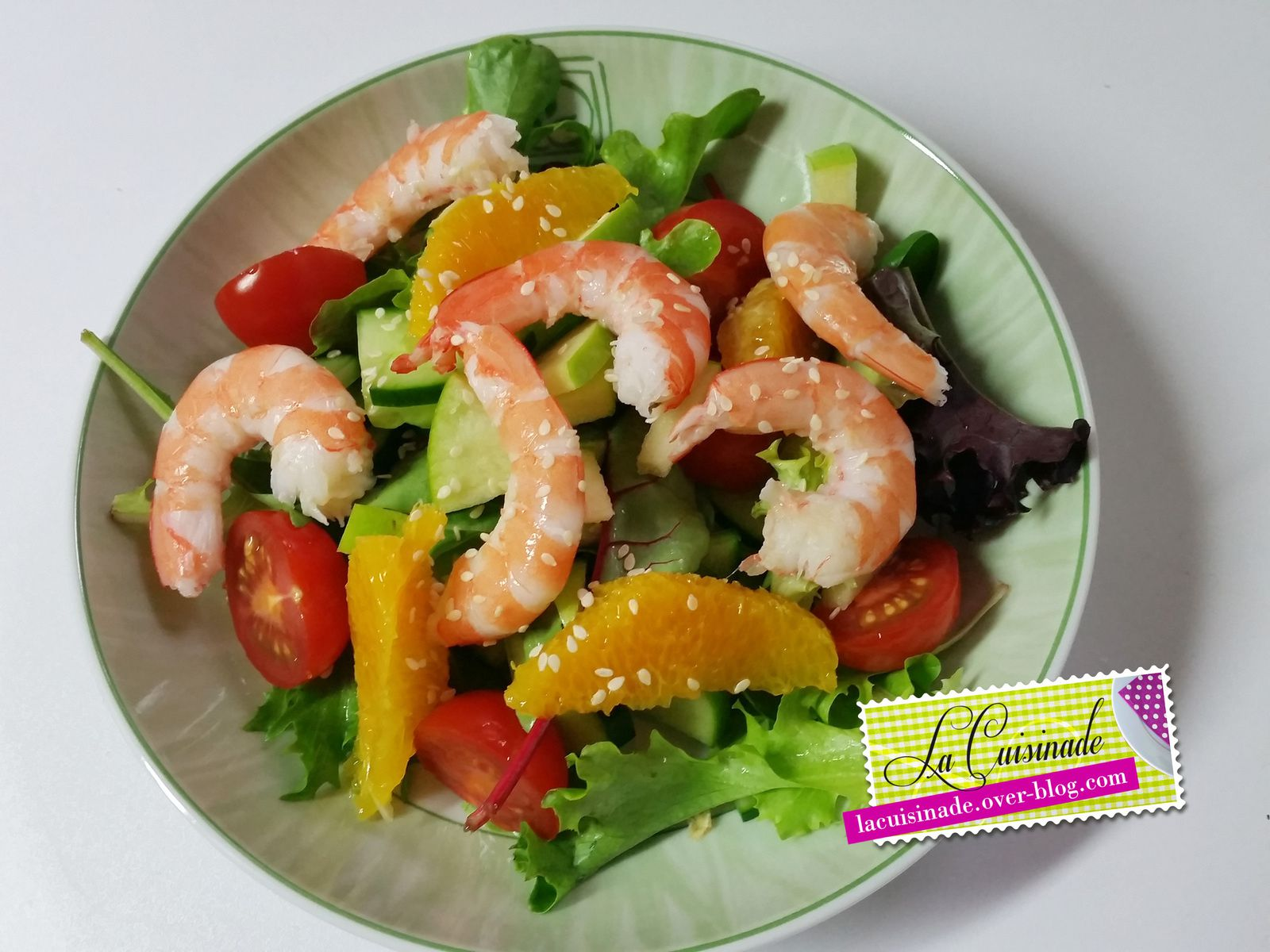salade de crevettes aux agrumes la cuisinade. Black Bedroom Furniture Sets. Home Design Ideas