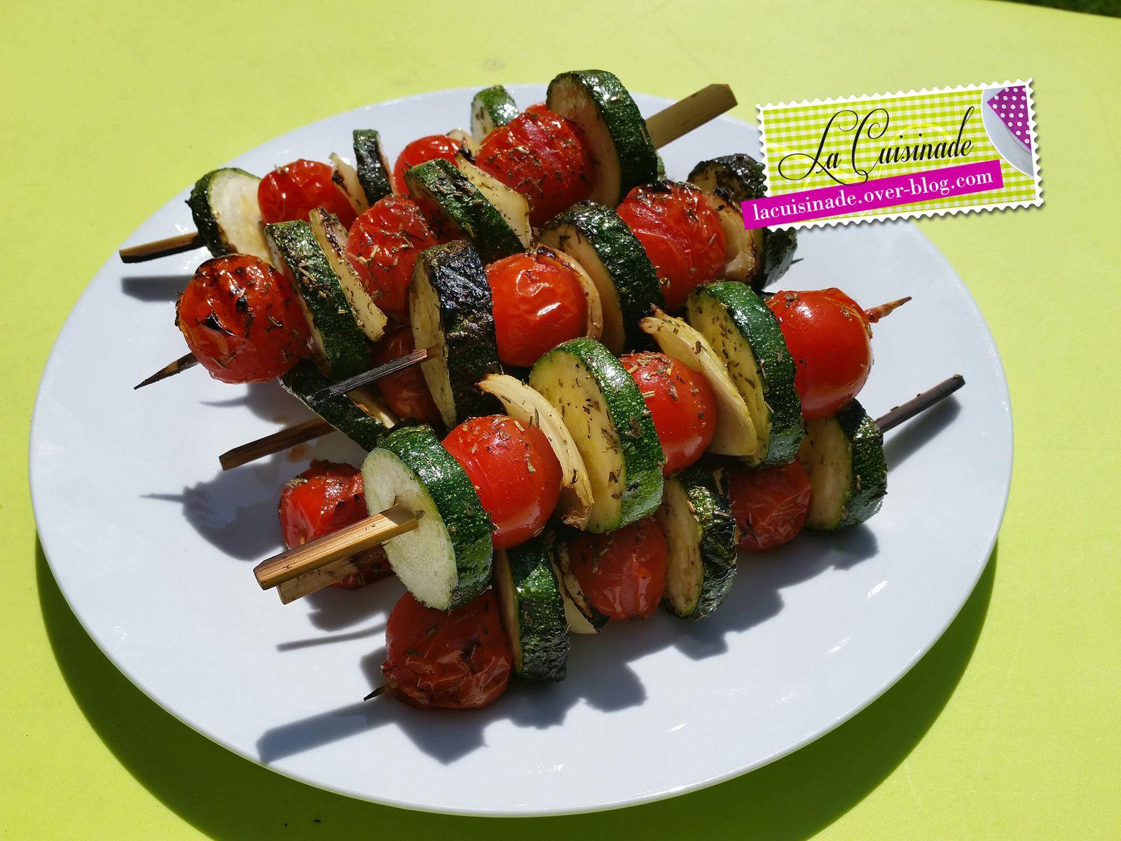 Brochettes de l gumes la cuisinade - Accompagnement poisson grille barbecue ...