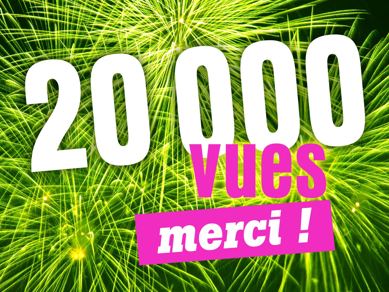 Happy 20 000 vues !
