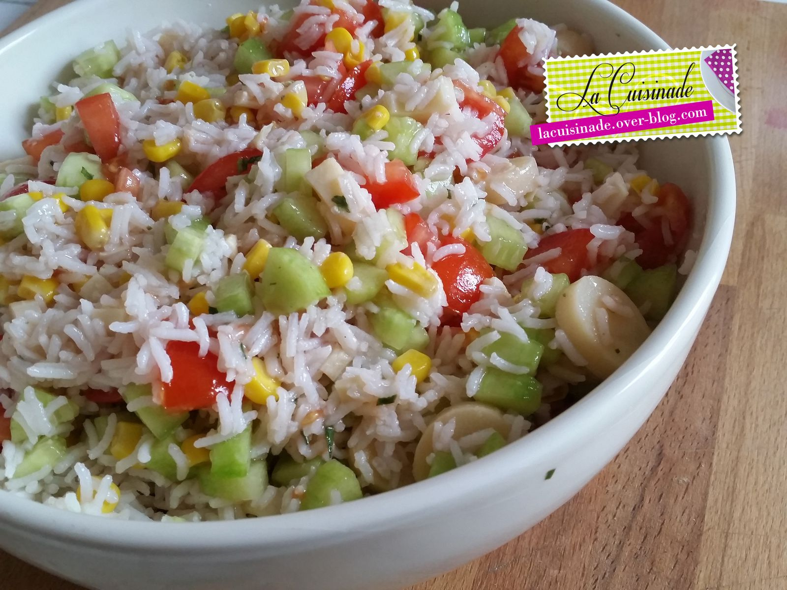 Salade de riz v g tarienne la cuisinade - Salade de riz pour 10 personnes ...