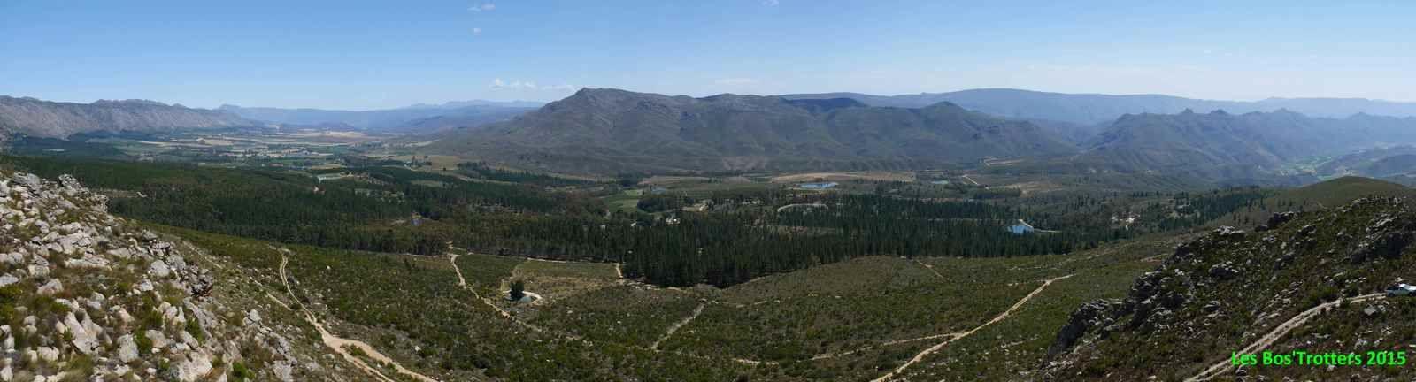 Vue depuis les hauteurs de Protea Farm