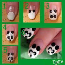 Tuto nail art panda