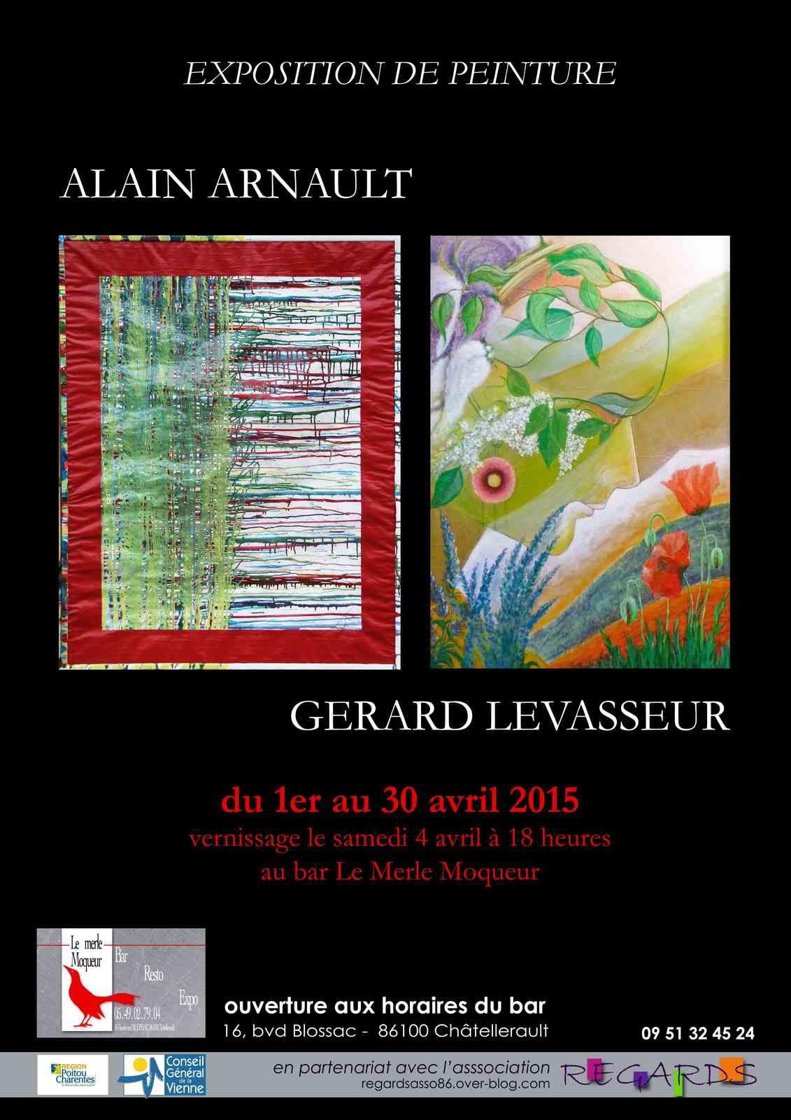 Exposition d'avril au Merle Moqueur