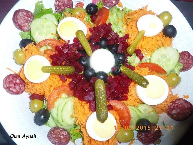 Salade composé colorée