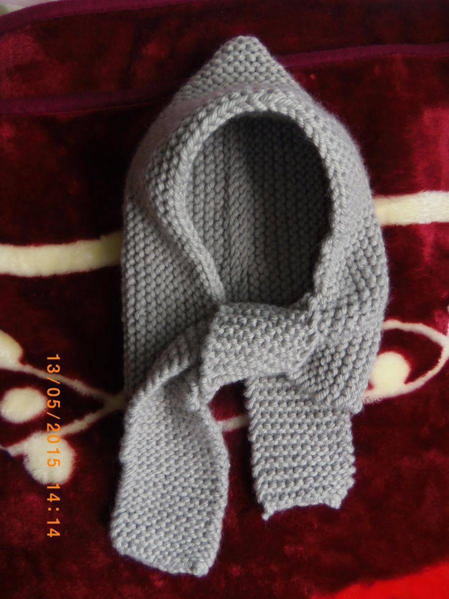 Bonnet Écharpe au tricot
