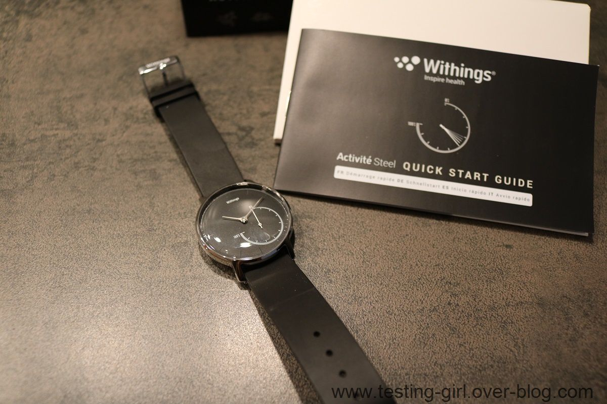 la montre connect e withings activit steel les avis de testing girl. Black Bedroom Furniture Sets. Home Design Ideas
