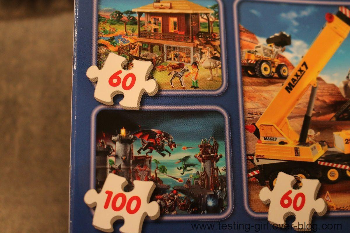 Le coffret de 4 puzzles Playmobil de Schmidt
