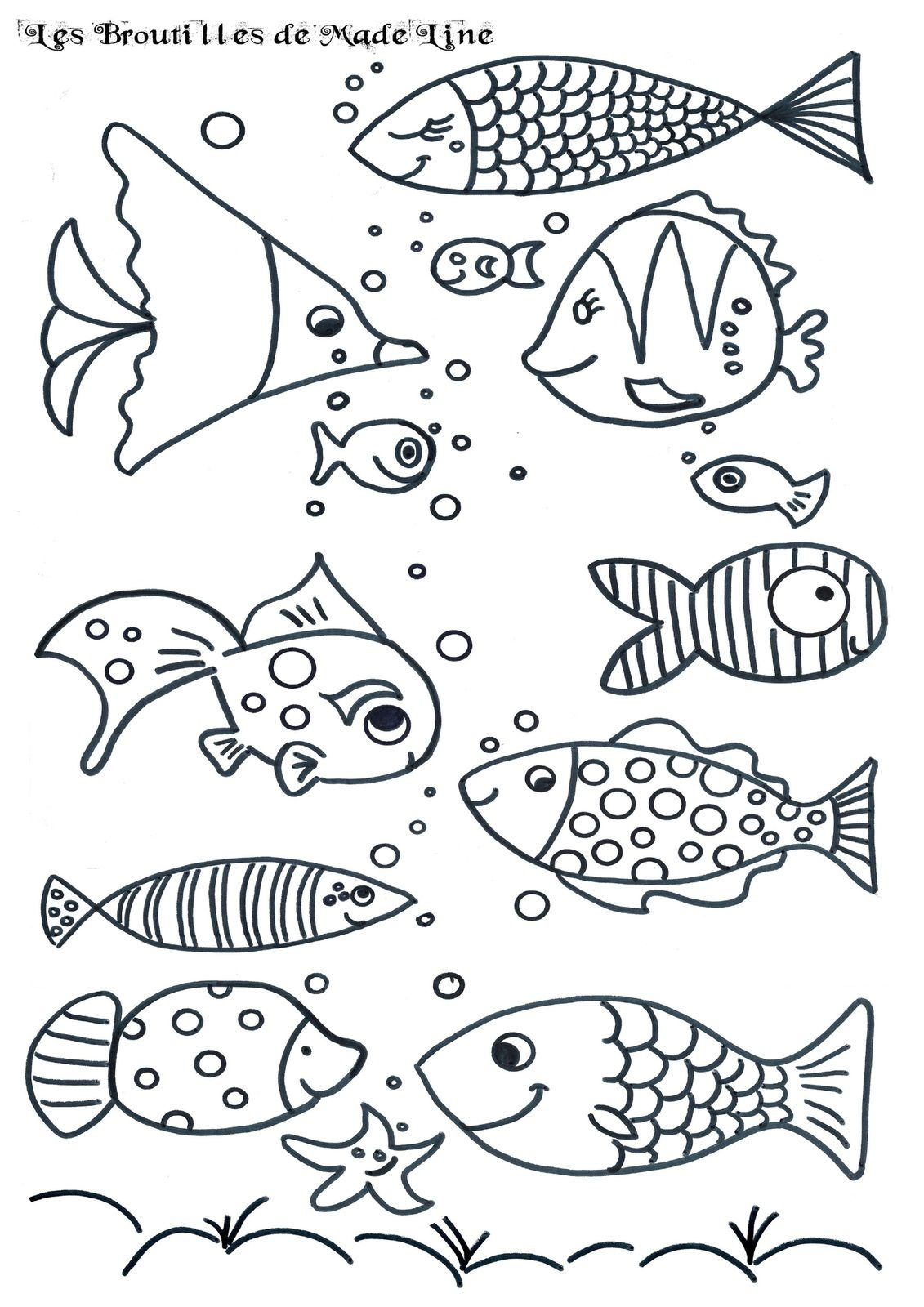 Poisson d avril - Coloriage avril ...