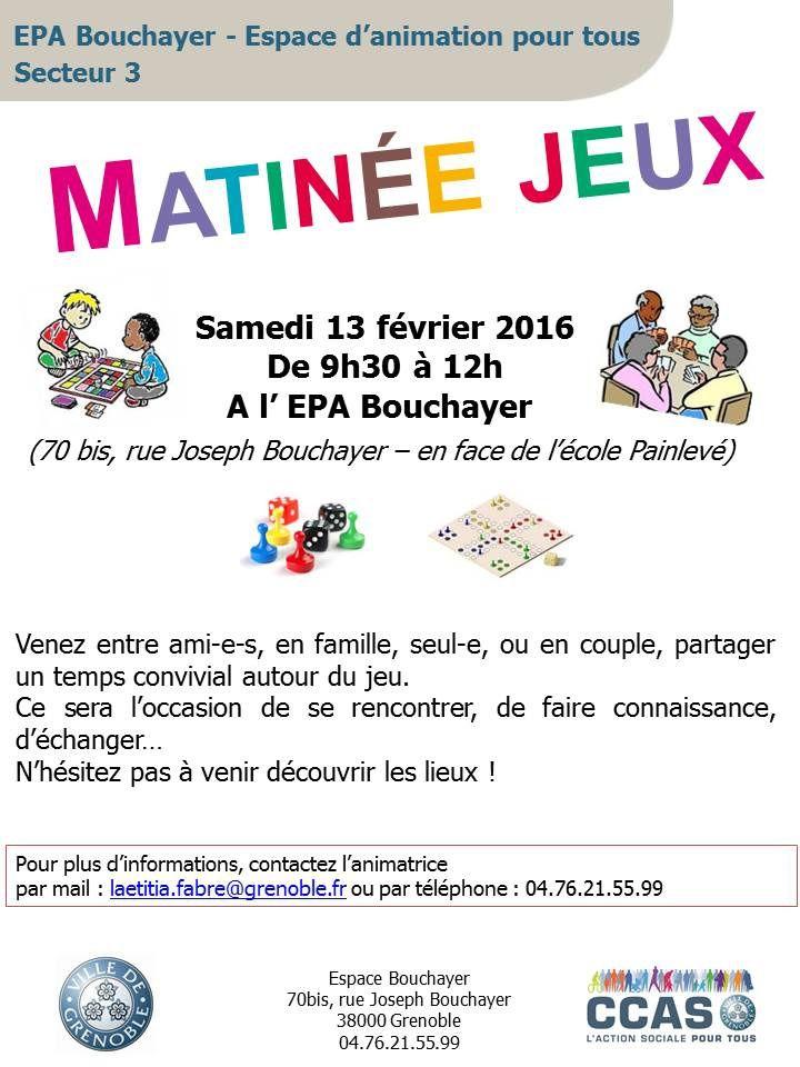 Matinée jeux à l'E.P.A. Bouchayer