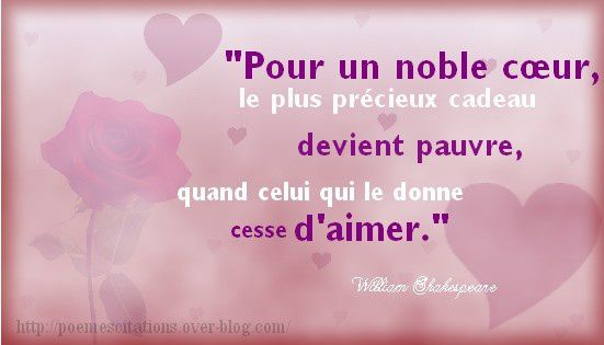 Citations sur l 39 amour po mes et citations - Shakespeare citation amour ...