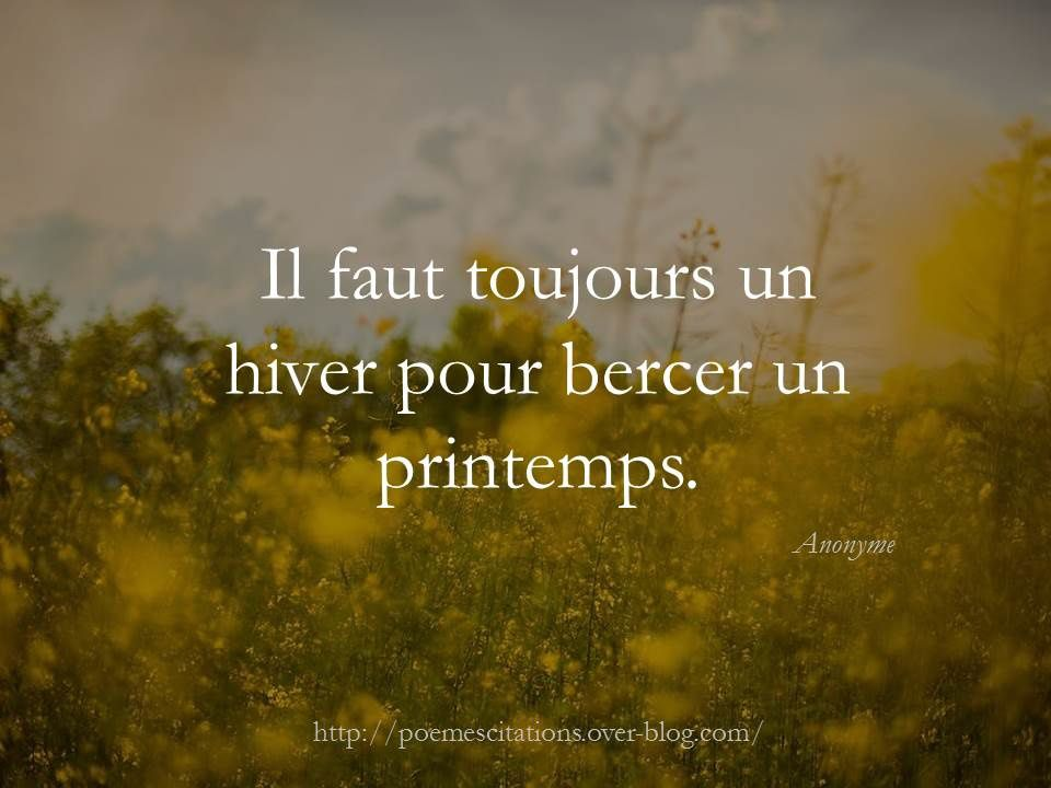Citation printemps