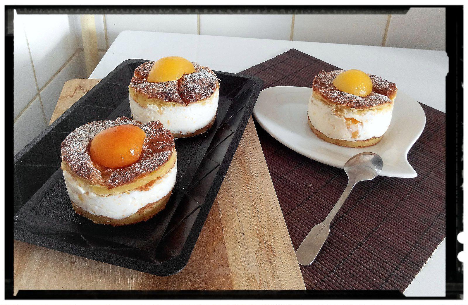 Tranches de choux ricotta-abricot