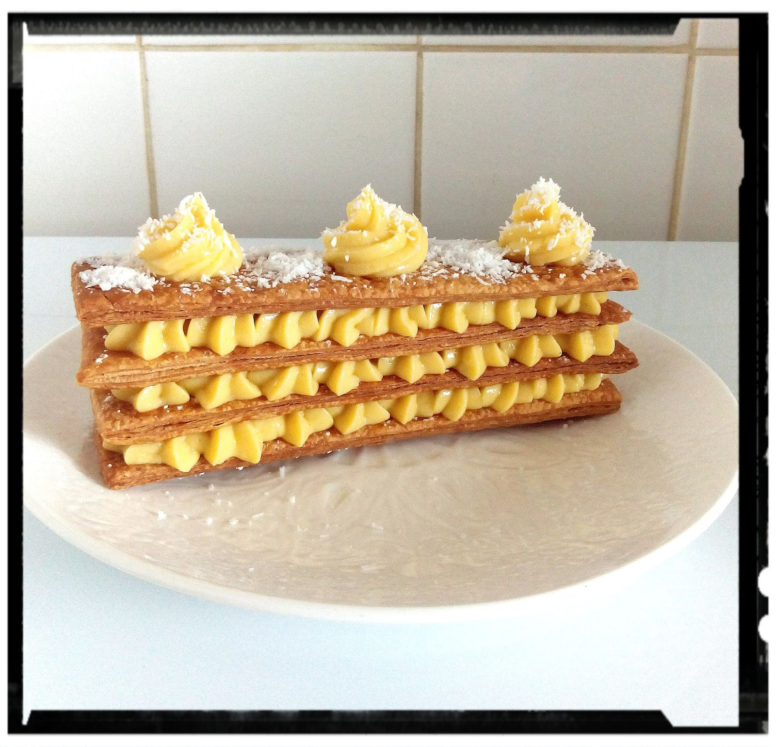 Mille-feuille citron gingembre