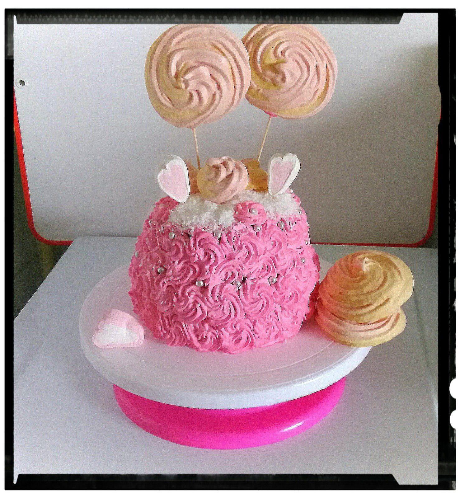 girly cake choco-fraise noix de coco