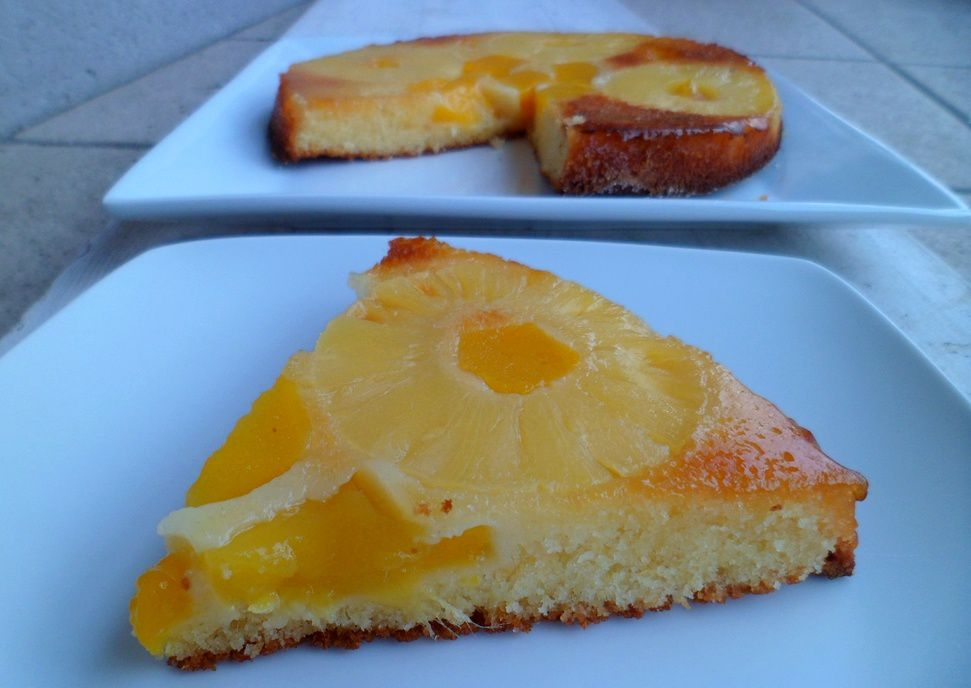 Gâteau renversé mangue &amp&#x3B; ananas