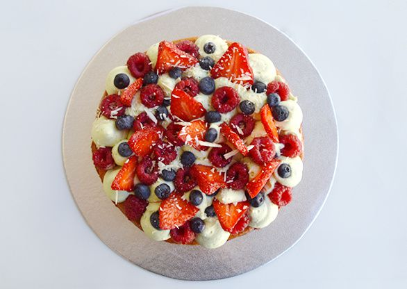 Tarte façon Fantastik de Christophe Michalak : fruits rouges pistache
