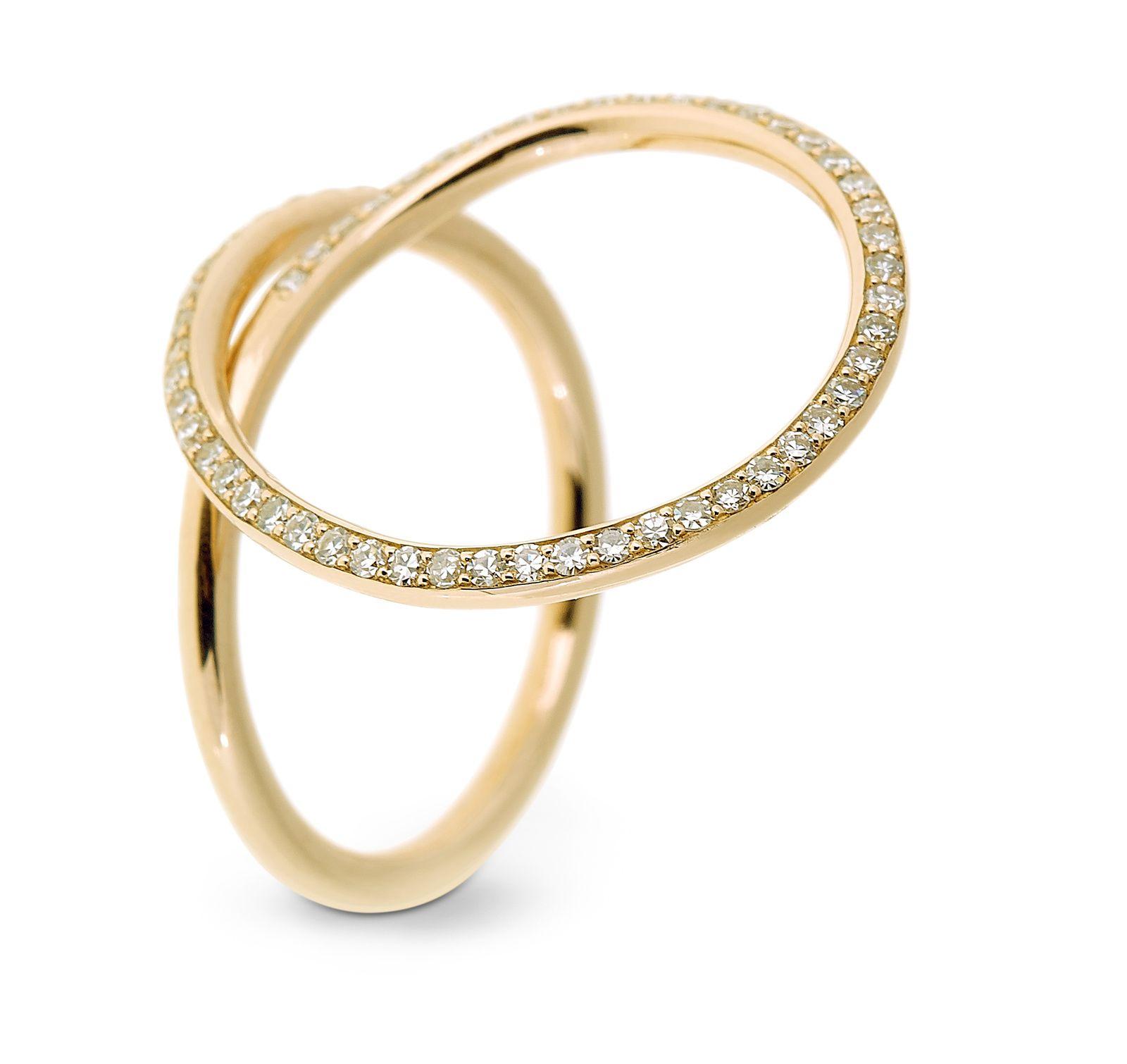 Bague C'est dans l'air en or rose sertie de diamants © Selim Mouzannar