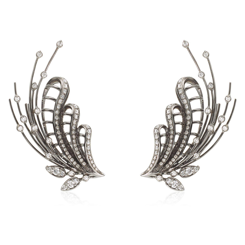 Boucles d'oreilles ICARIUS, or,diaments © Nicholas Liu Fine Jewels