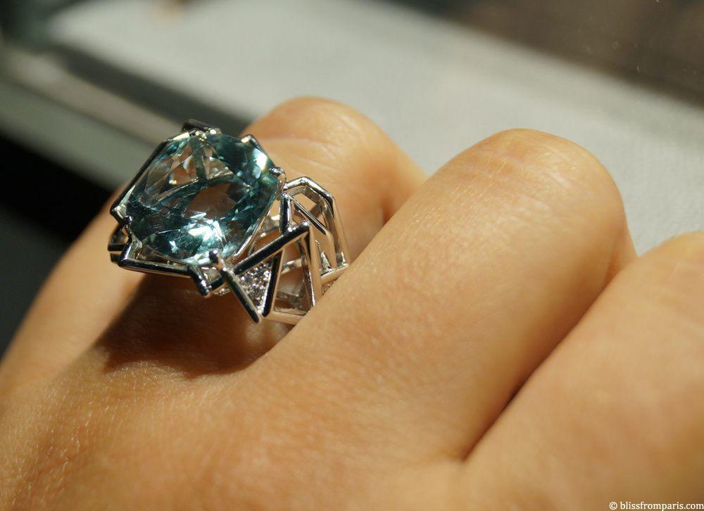 Bague d'Amy Burton pour Hancocks, aigue-marine, diamants