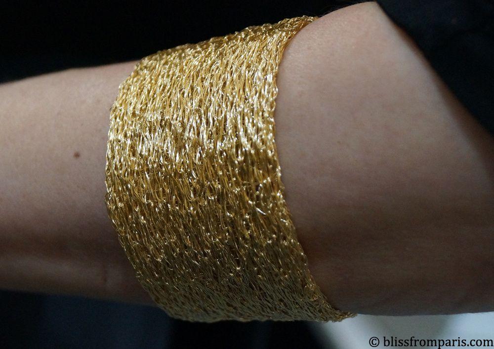 Nina Bukvic-Manchette en or jaune