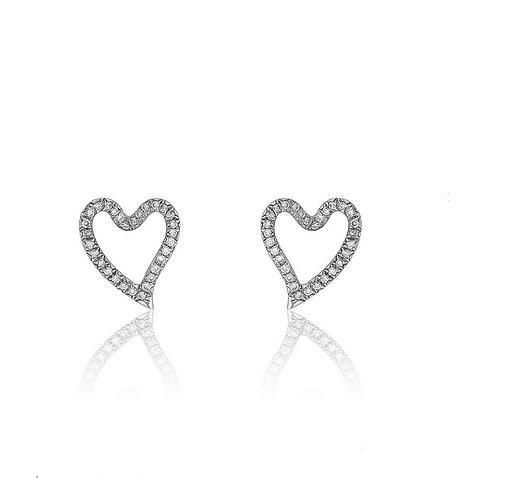 Hélène Boghossian, Boucles d'oreilles, or blanc, diamants © Hélène Boghossian
