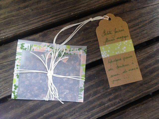 Fête des Mères : paquet et carte home made