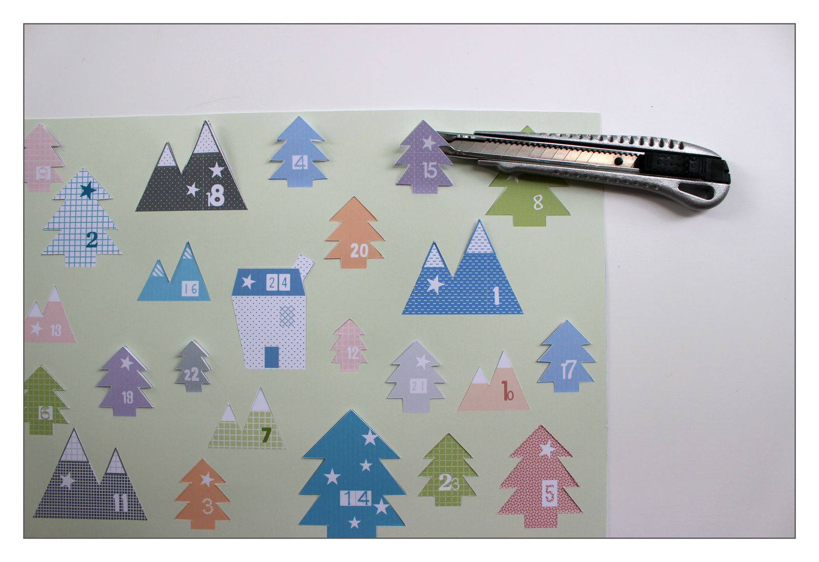 Un calendrier de l'avent (DIY + printable inside)