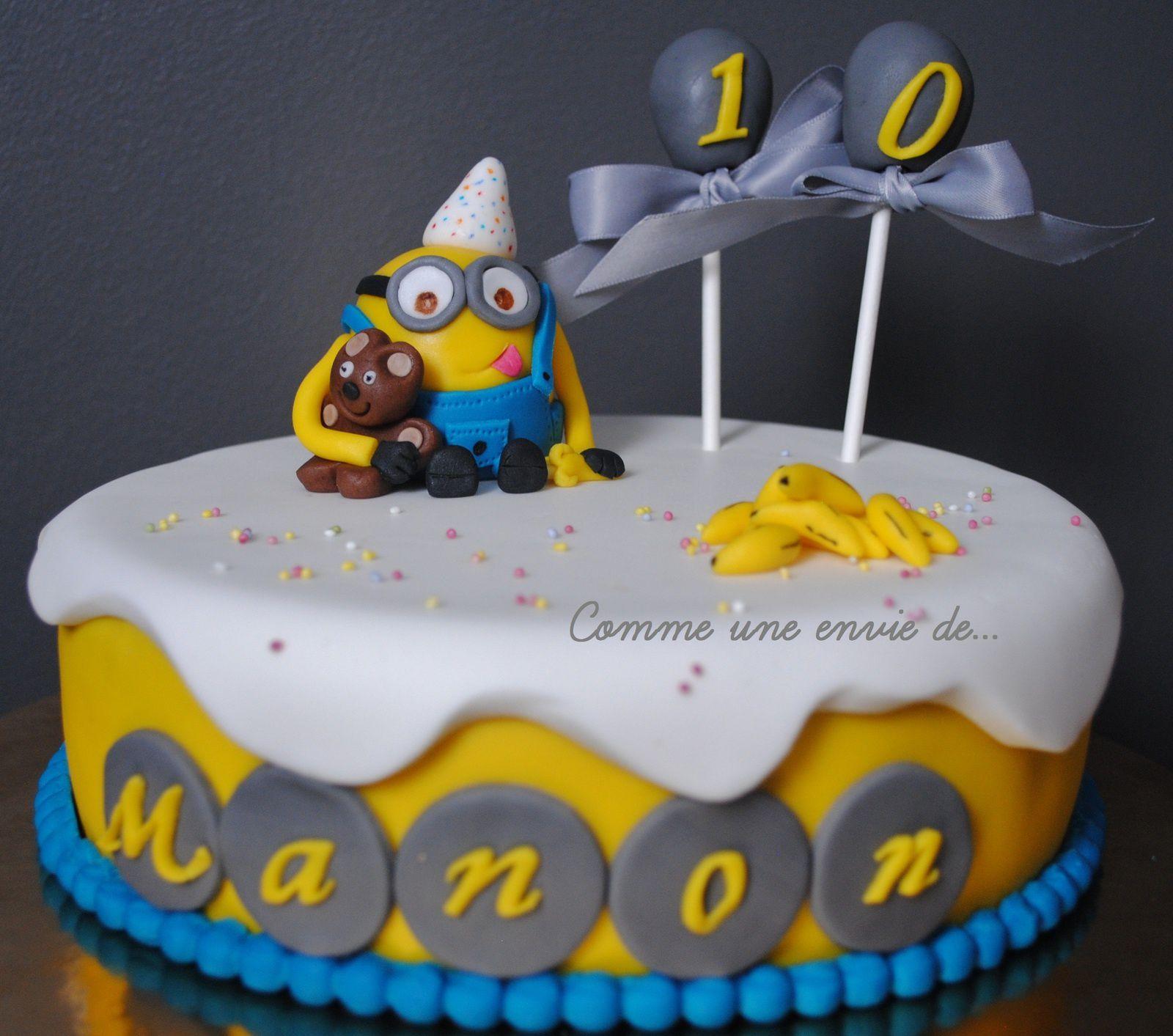 Gâteau Les Minions pour Manon