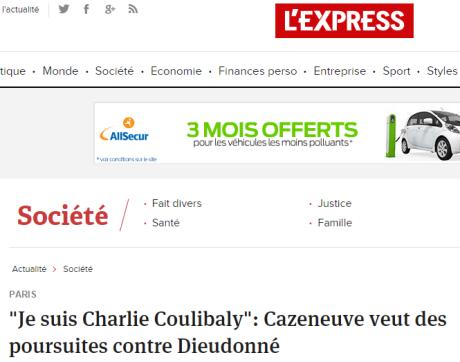 DIEUDONNE. France: « Charlie-Coulibaly » ou l'effroyable imposture médiatico-politique