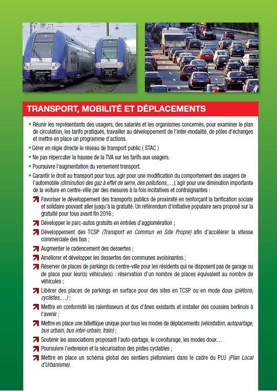 Le programme de Chambéry Cap à Gauche, issu des élections municipales 2014