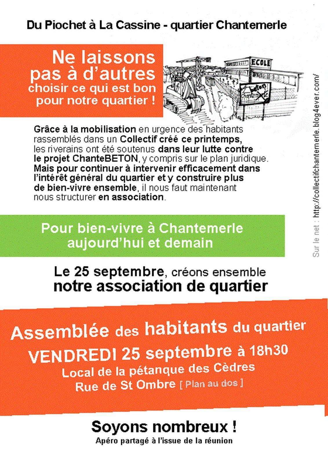 25 septembre 2015 : une date historique pour le quartier de Chantemerle !