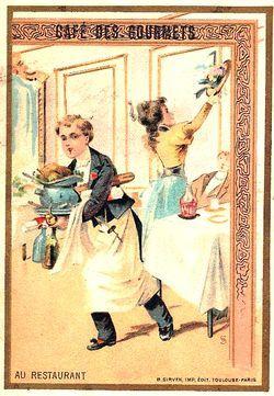 Image chromo réclame Café Trébucien