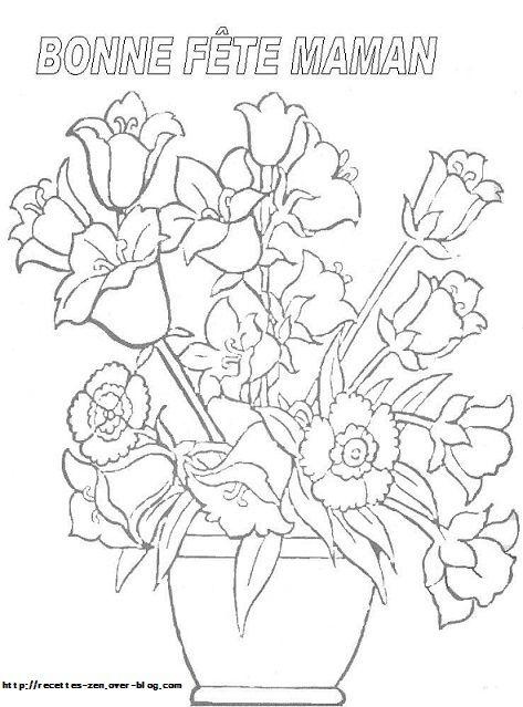 Coloriage : un bouquet de fleurs