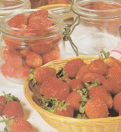 fraises en conserves