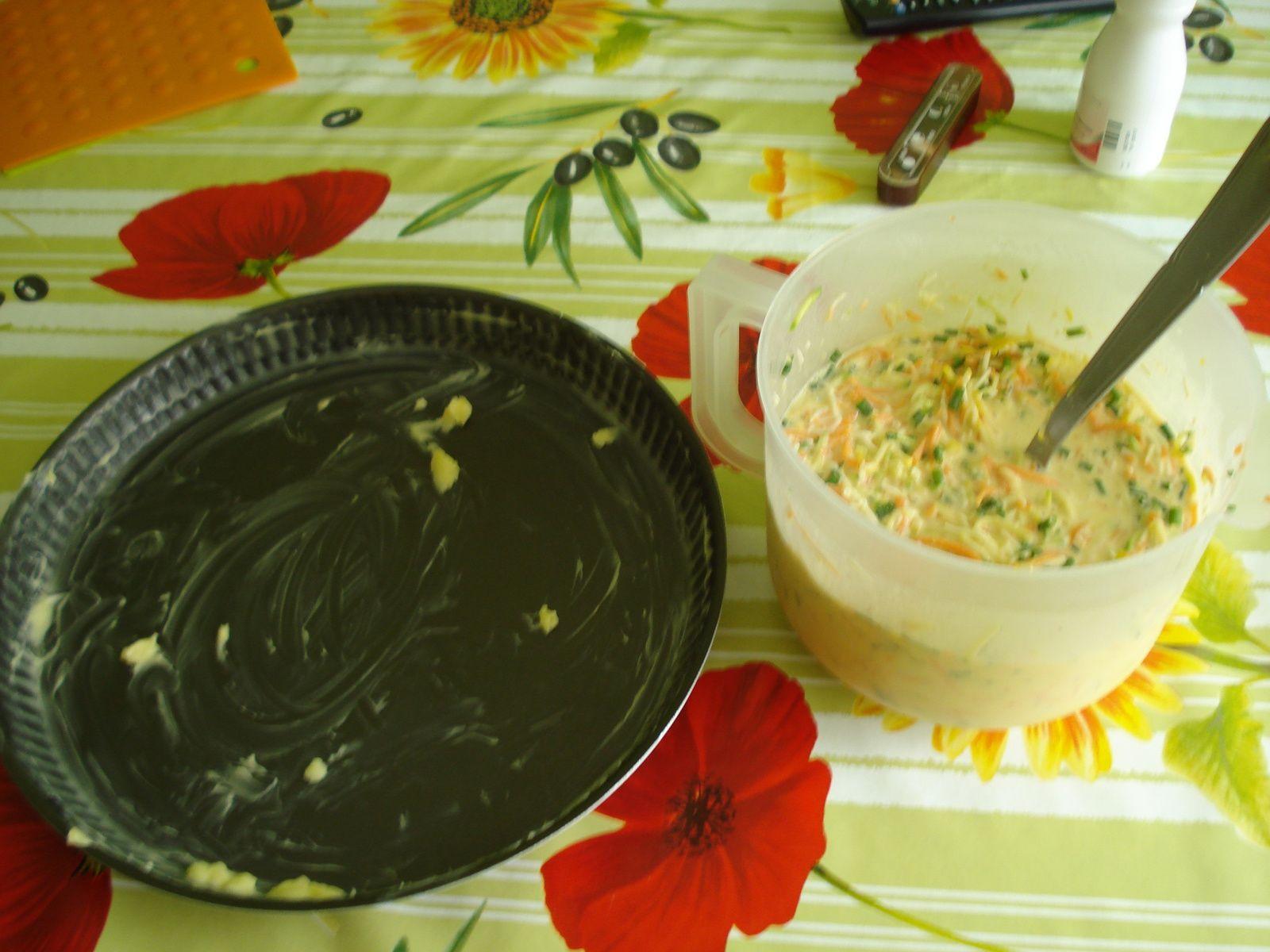 Quiche sans pate aux légumes et fromages