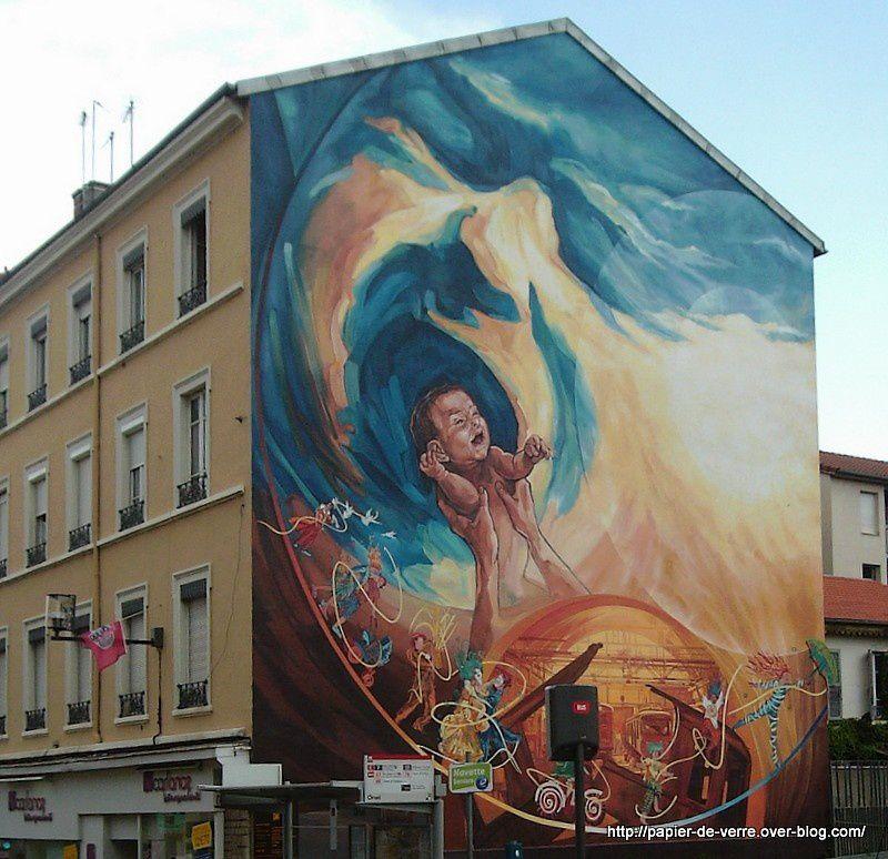 Mur peint : La Renaissance 2, rénovation en 2013