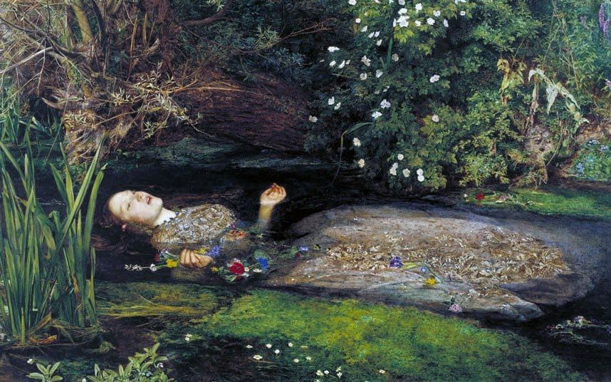 Ophelia (1851-2) by John Everett Millais Photo: © Tate