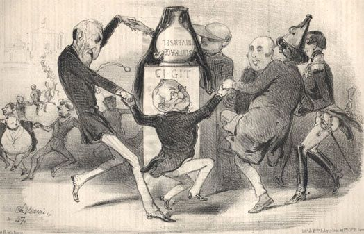 « Fête funéraire en l'honneur de feu le Suffrage universel » (Le Charivari du 12 juin 1850)