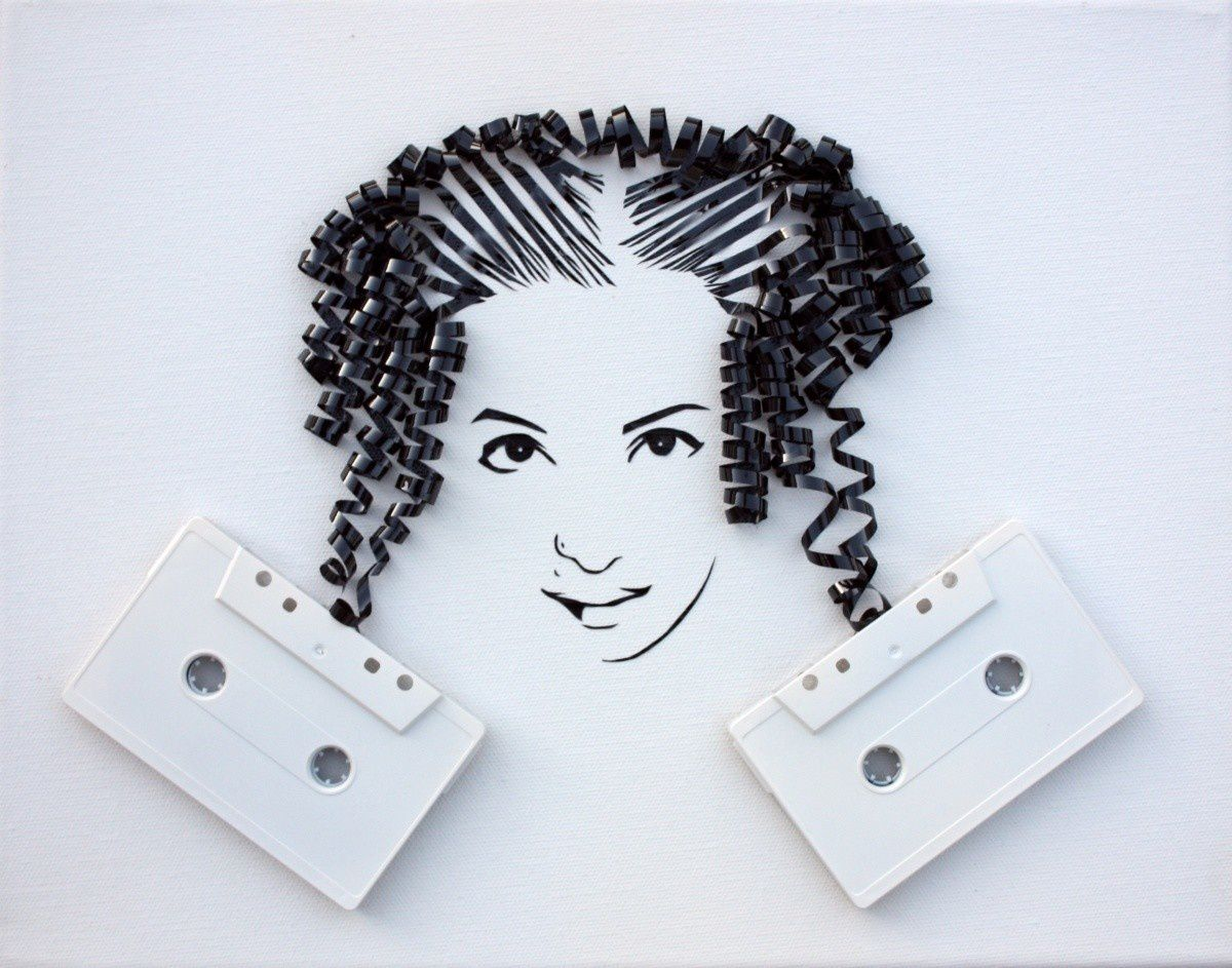 Awesome Hair Tape !  twenthings:  by Erika Iris Simmons. Striking.