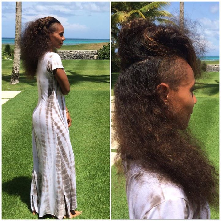 "Déclaration d'amour de Jada Pinkett-Smith sur FB à la marque Carol's Daughter : ""I know you all often see my hair in various ways, but what you see in these pics is MY natural hair. I've taken care of this mane with CAROL'S DAUGHTER products for over 15 years, specifically...Lisa's Hair Elixir. With that said, Carol's Daughter is still going strong, despite some misleading press, so much so you can now find it in Target, on HSN, Ulta and Sephora inside JCPenny. My hair would like to say thank you to Lisa Price of Carol's Daughter for making products that actually nourish the scalp and hair&#x3B;)"""