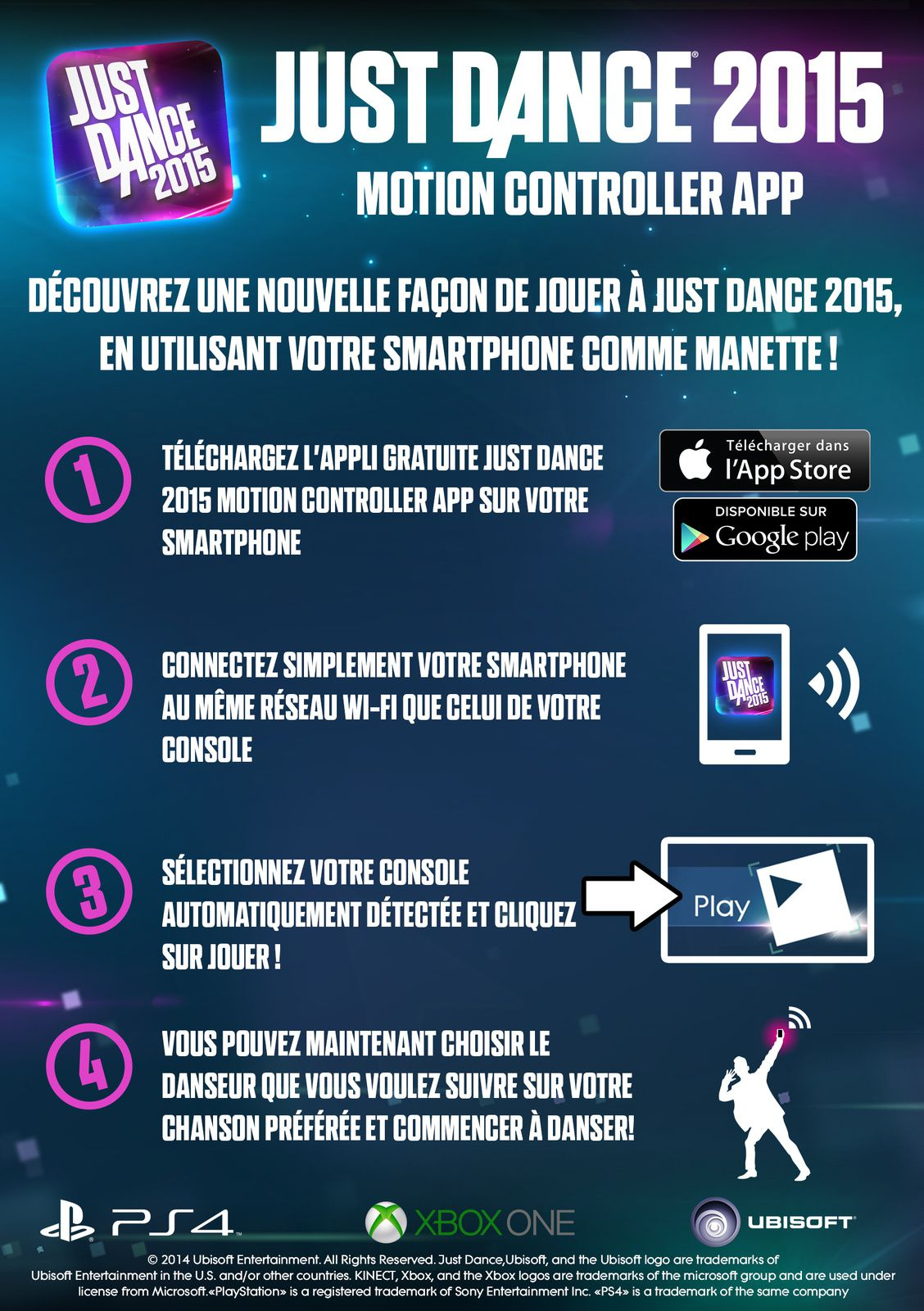 Just Dance 2015 annonce l'application Motion Controller
