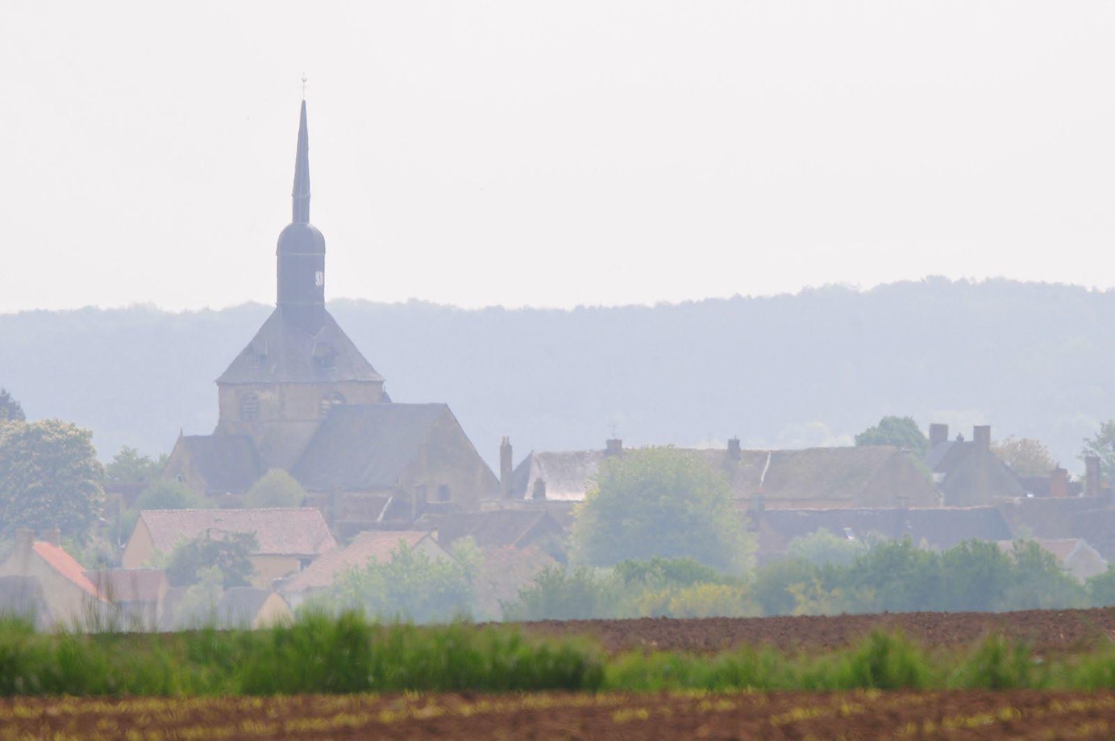 Le vieux chemin du Mans, région de Domfront en Champagne.