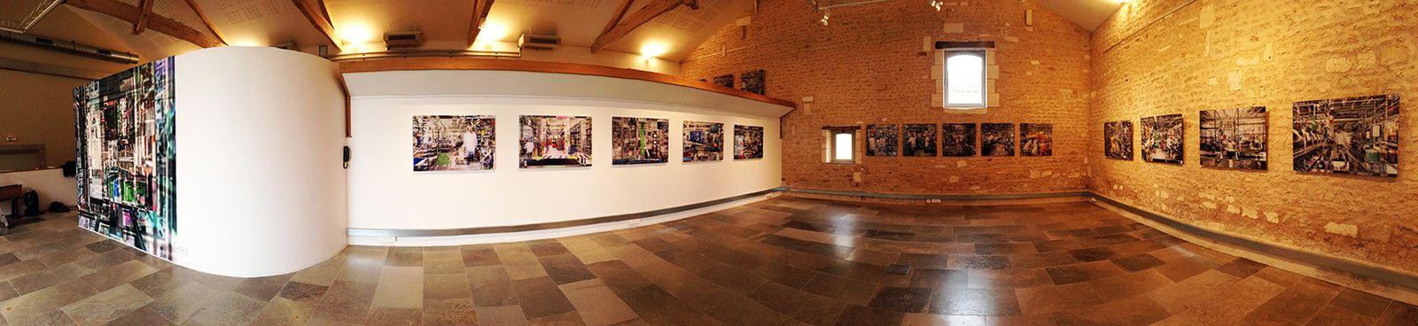 Installation de l'exposition aux Modillons.