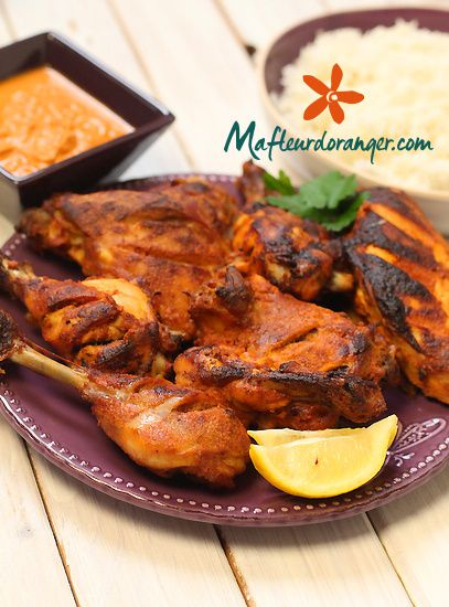 cuisine indienne poulet tandoori et sa sauce pic e blog cuisine marocaine orientale ma. Black Bedroom Furniture Sets. Home Design Ideas