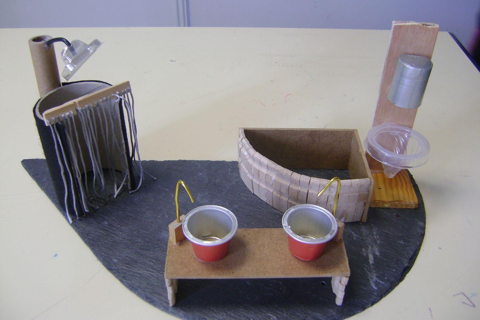 Beliebt Fabrication d'une maquette de maison avec du bois des épingles à  JW06