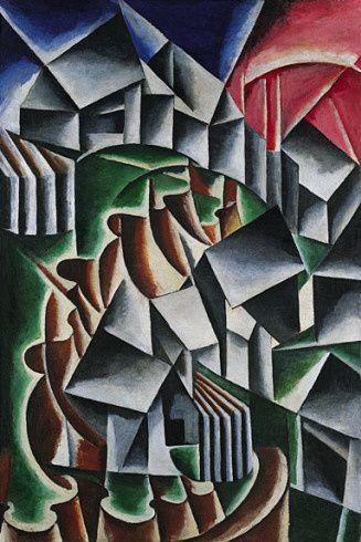 Lioubov Popova, Birsk (Paysage) , (1916)