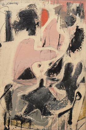Willem de Kooning, Valentine, 1947 - Interaction entre artiste, matériaux et surface.