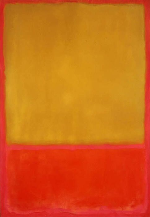 "Rothko, ""Ochre and Red on Red"" (Ocre et rouge sur rouge), 1954 - Surface de méditation sur la toile."