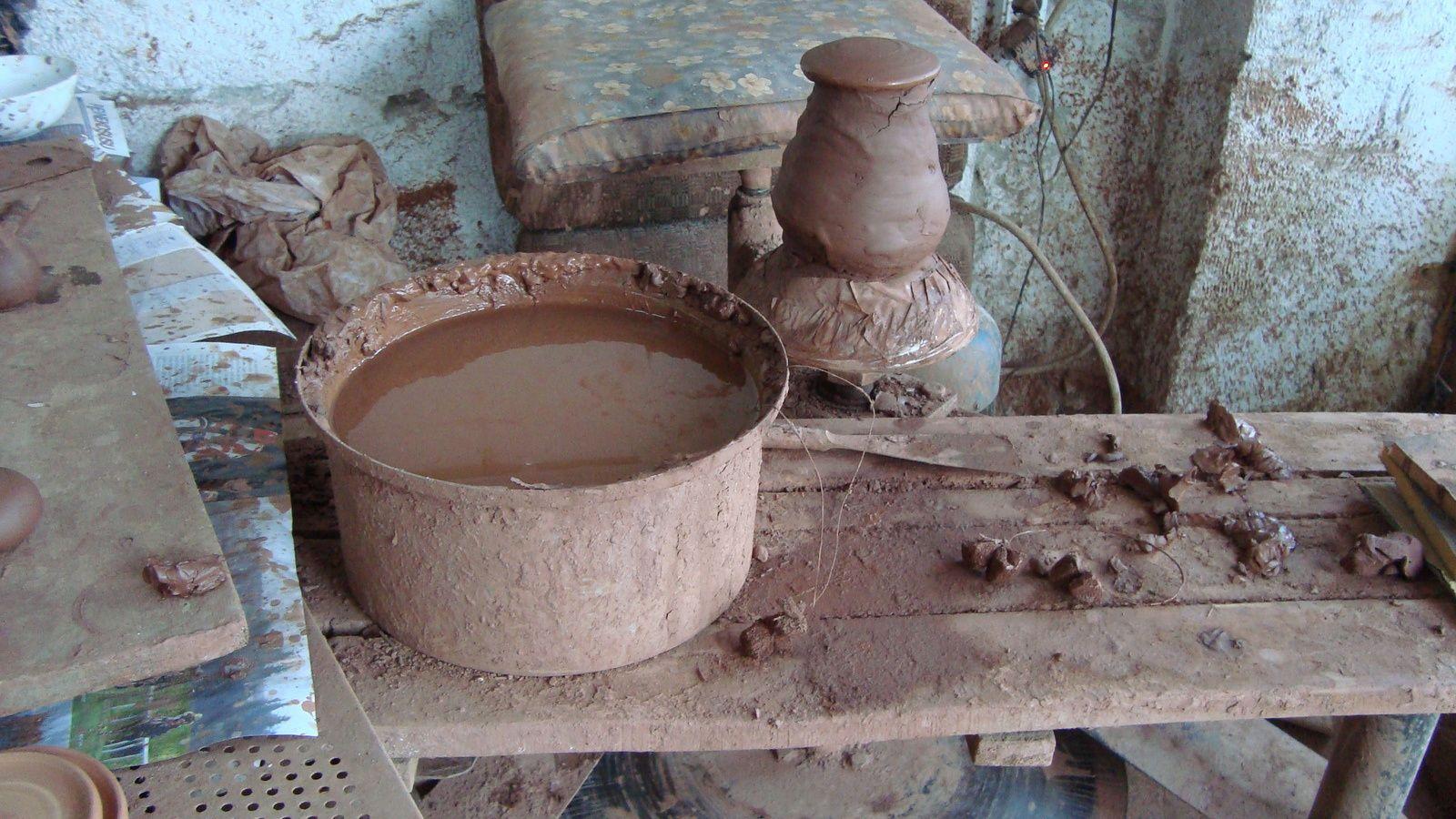 Hasan Bircan potier d'Avanos et argile rouge du Kızılırmak